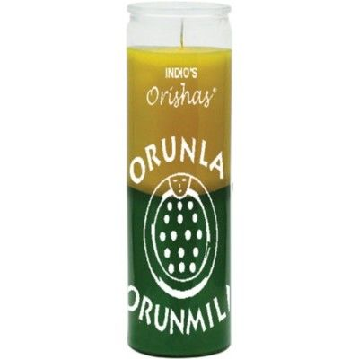 Orunla Yellow & Green Candle