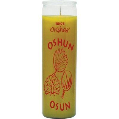 Orishas Glass Candles