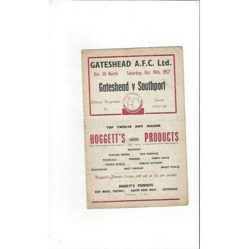 Gateshead Football Programmes