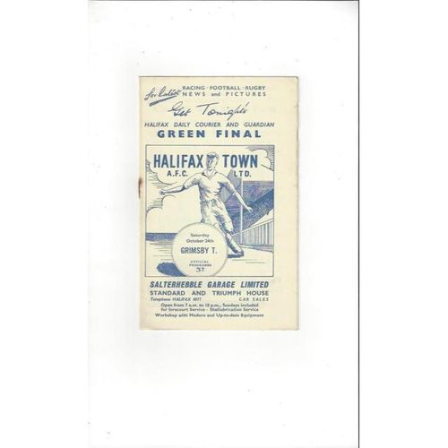 1959/60 Halifax Town v Grimsby Town Football Programme