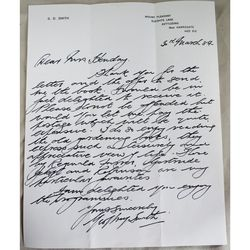 Geoffrey Smith (TV Gardener) Mount Pleasant Signed March 1984 Letter