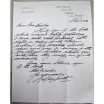 Geoffrey Smith (TV Gardener) Mount Pleasant Signed 10th April 1984 Letter