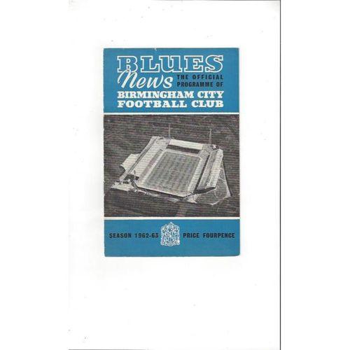 Birmingham City v Leicester City 1962/63