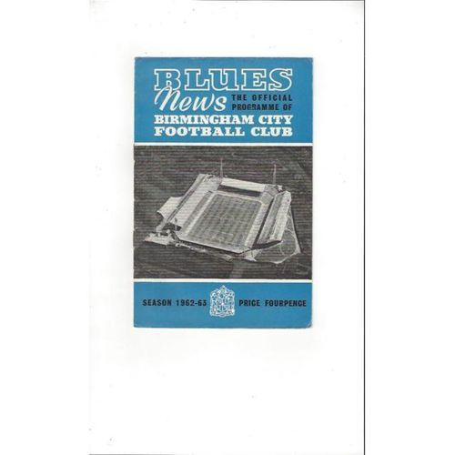 Birmingham City v Sheffield United 1962/63