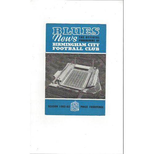 Birmingham City v Wolves 1962/63