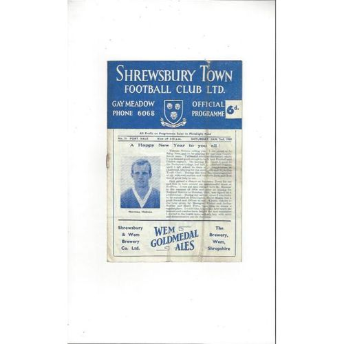 Shrewsbury Town Home Football Programmes