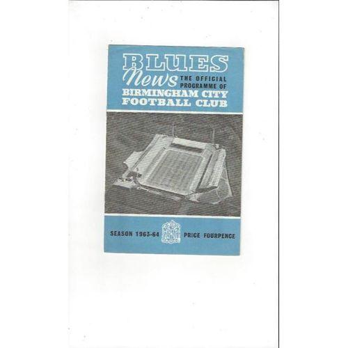 Birmingham City v Sheffield Wednesday 1963/64