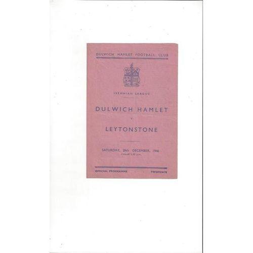 1946/47 Dulwich Hamlet v Leytonstone Football Programme