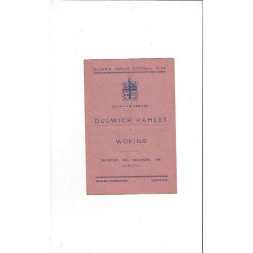 1946/47 Dulwich Hamlet v Woking Football Programme