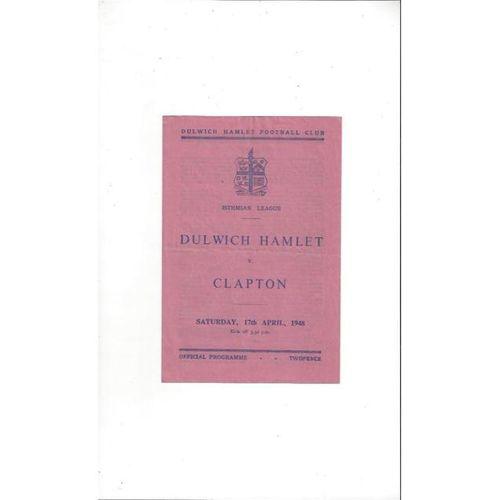 Dulwich Hamlet v Clapton 1947/48