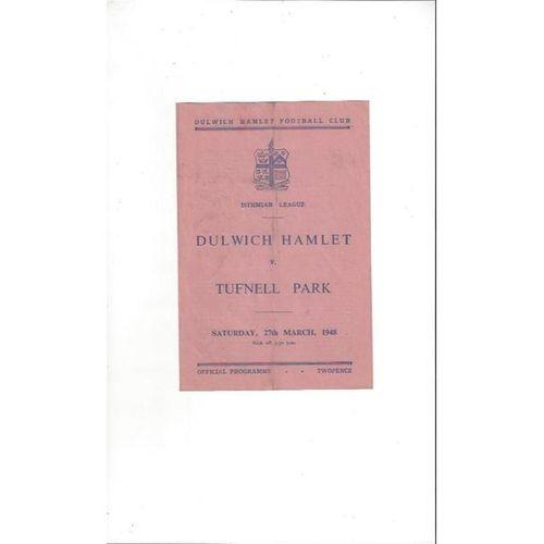 Non League Pre War & 1940's Football Programmes