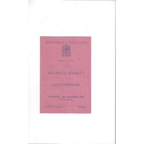 1949/50 Dulwich Hamlet v Leytonstone Football Programme