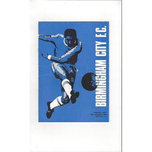 Birmingham City v Carlisle United 1967/68