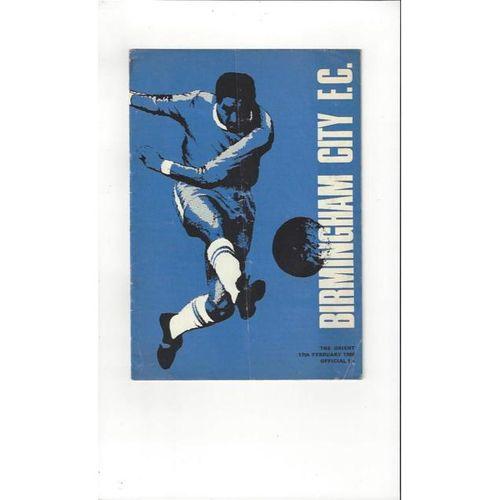 1967/68 Birmingham City v Leyton Orient Football Programme