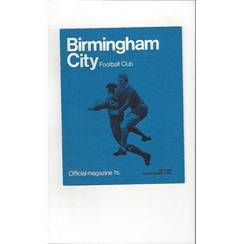 Birmingham City v Fulham 1968/69