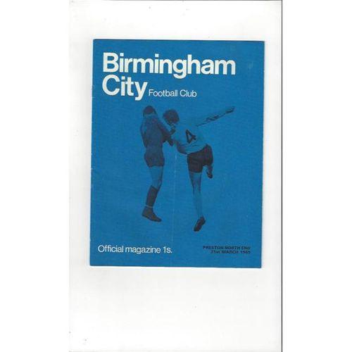 Birmingham City v Preston 1968/69