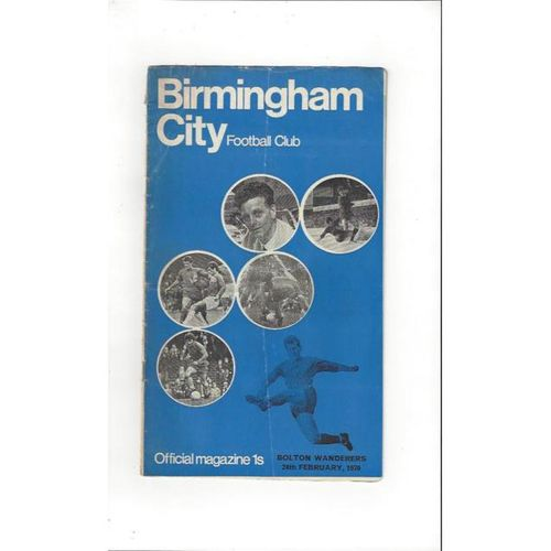 Birmingham City Home Football Programmes