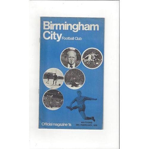 Birmingham City v Watford 1969/70