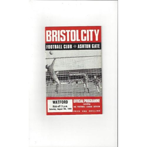 1969/70 Bristol City v Watford Football Programme + League Review