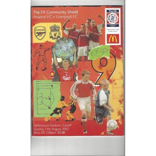 Arsenal v Liverpool Charity Shield 2002