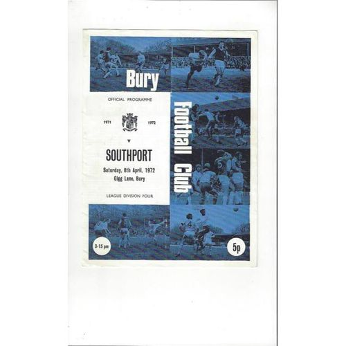 Southport Away Football Programmes