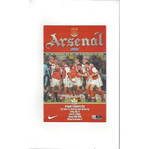 Arsenal v Coventry City FA Youth Cup Final 1999/00