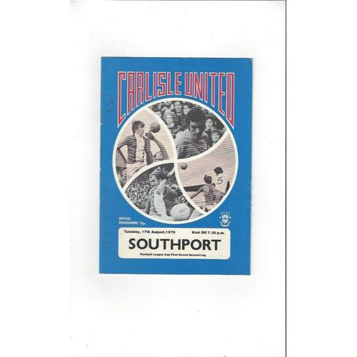 1976/77 Carlisle United v Southport League Cup Football Programme