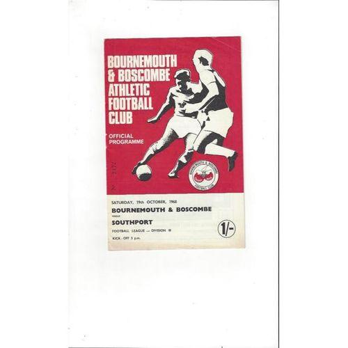 1968/69 Bournemouth v Southport Football Programme