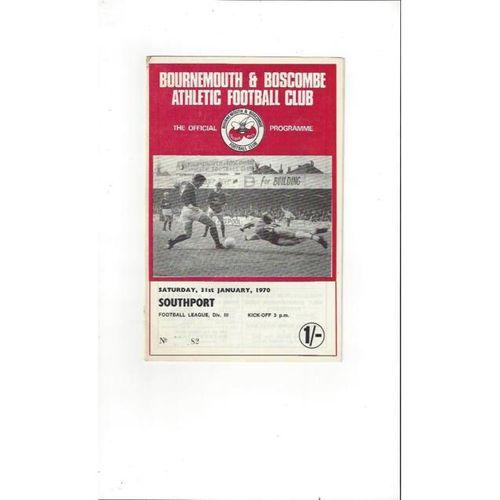 1969/70 Bournemouth v Southport Football Programme