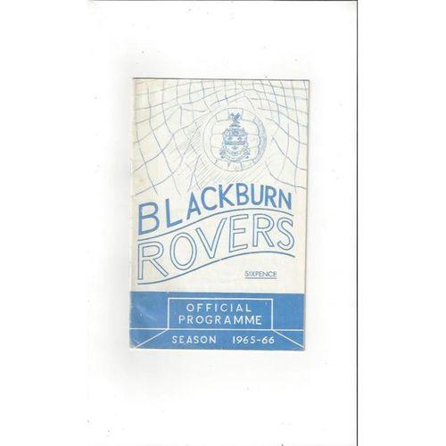 Blackburn Rovers Home Football Programmes