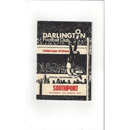 1976/77 Darlington v Southport Football Programme