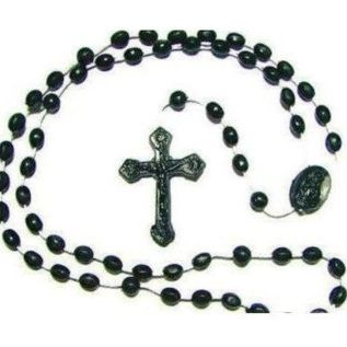 Black Plastic Rosary Beads