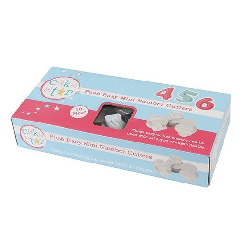 Cake Star Push Easy Cutters - Small Numbers - 10 Piece