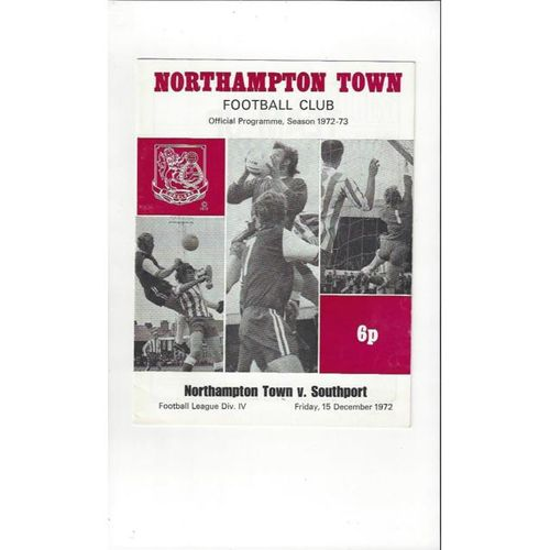 1972/73 Northampton Town v Southport Football Programme