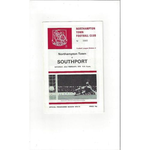 1974/75 Northampton Town v Southport Football Programme