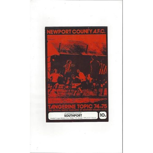 1974/75 Newport County v Southport Football Programme