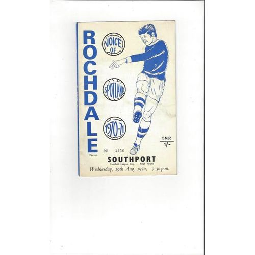 1970/71 Rochdale v Southport League Cup Football Programme
