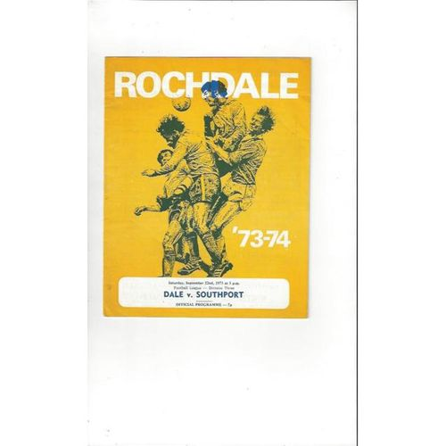 1973/74 Rochdale v Southport Football Programme