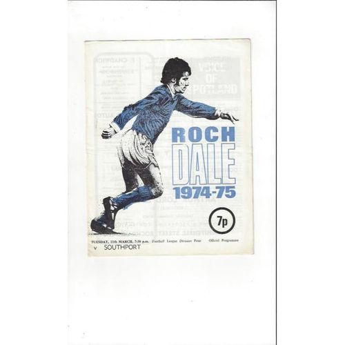 1974/75 Rochdale v Southport Football Programme