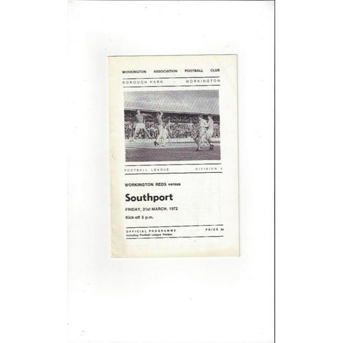 1971/72 Workington v Southport Football Programme