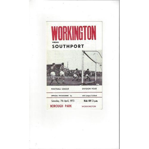 1972/73 Workington v Southport Football Programme