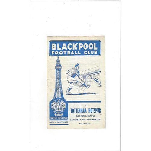 1962/63 Blackpool v Tottenham Hotspur Football Programme