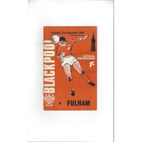 1968/69 Blackpool v Fulham Football Programme