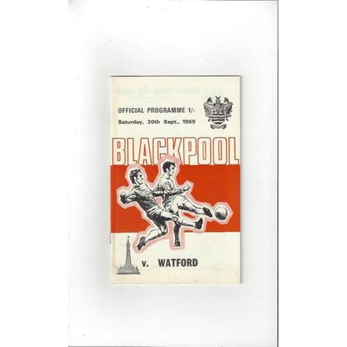 1969/70 Blackpool v Watford Football Programme + League Review