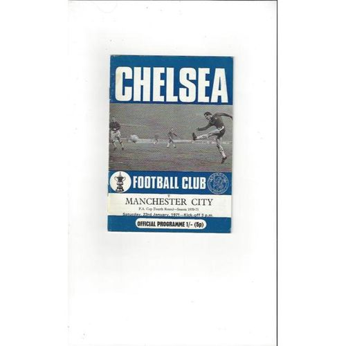 1970/71 Chelsea v Manchester City FA Cup Football Programme