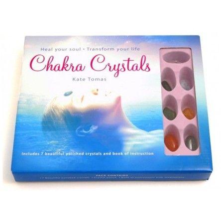 Chakra Book & Crystals Set
