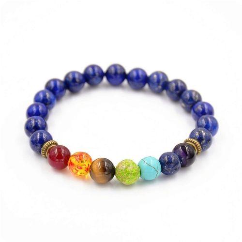 Lapis Lazuli & 7 Chakra Bracelet