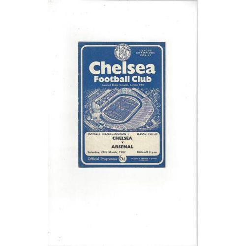 Chelsea v Arsenal 1961/62