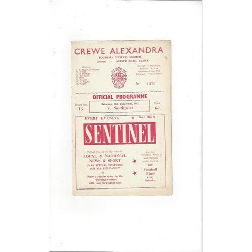 Crewe Alexandra Football Programmes