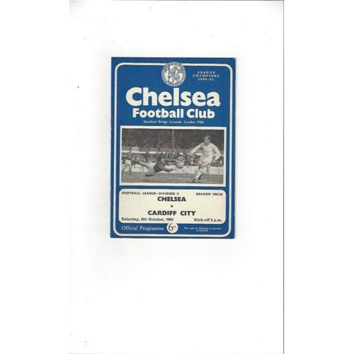 Chelsea v Cardiff City 1962/63